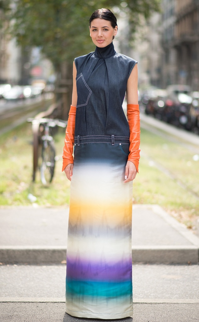 Mary Leest From Street Style Milan Fashion Week Spring 2015 E News