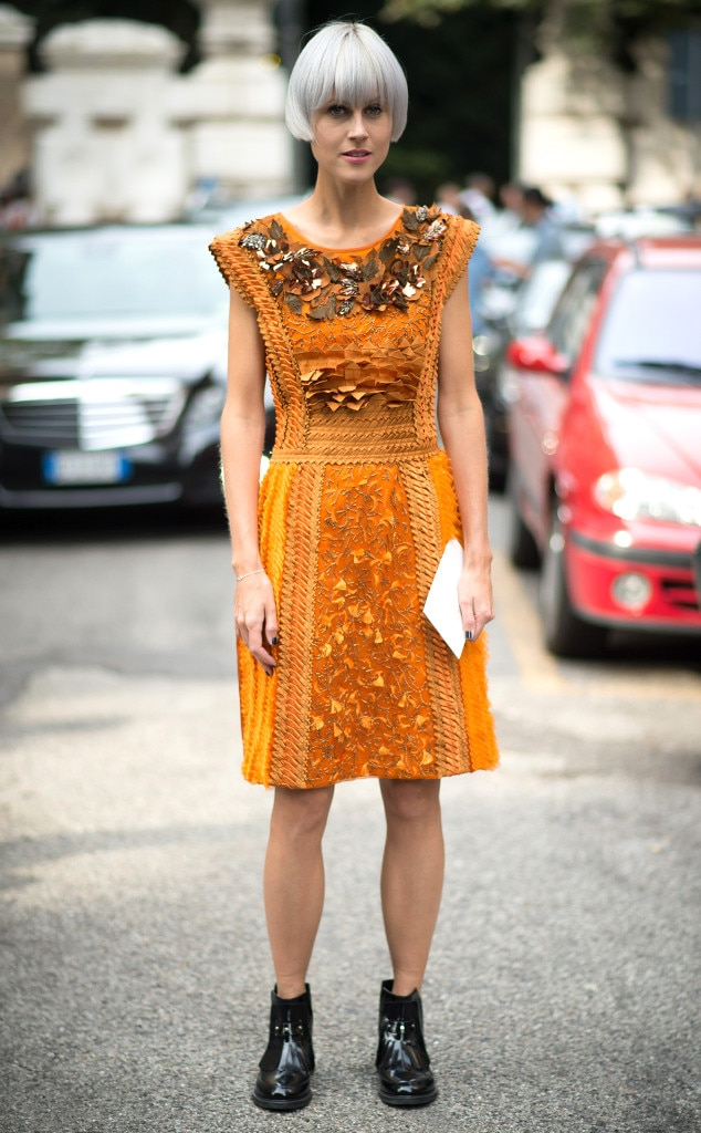 Linda Tol From Street Style Milan Fashion Week Spring 2015 E News