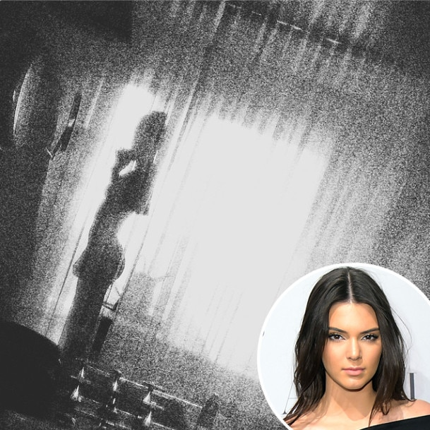 Kendall Jenner Poses Nude Behind Curtain? See the Photo
