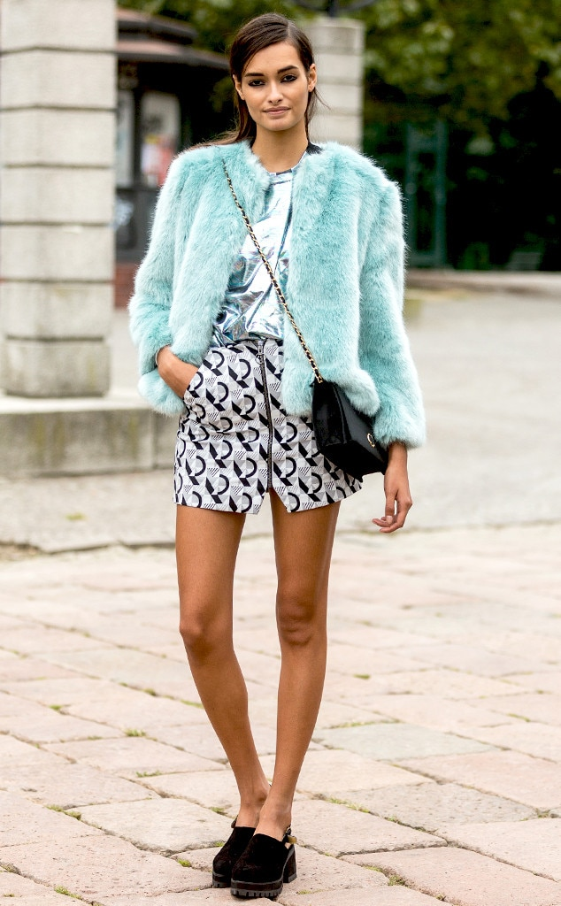 Gizele Oliveira From Street Style Milan Fashion Week Spring 2015 E News