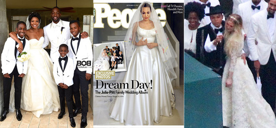 Gabrielle Union Wedding Dresses