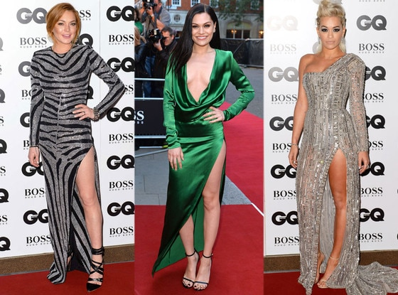 Lindsay Lohan, Jessie J, Rita Ora, GQ Men Of The Year Awards 2014