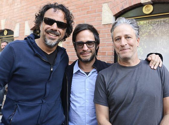 Alejandro Gonzalez Inarritu, Gael Garcia Bernal, Jon Stewart