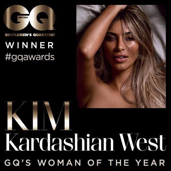 Kim Kardashian West, British GQ, Twitter
