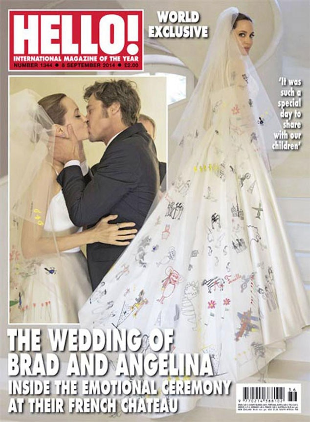 Hello Magazine, Angelina Jolie, Brad Pitt, Wedding