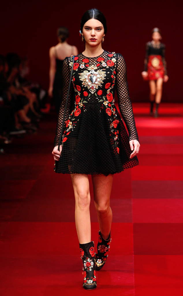 Kendall Jenner, Dolce & Gabbana, Milan Fashion Week, Best Looks