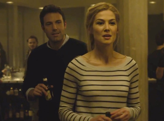 Ben Affleck, Rosamund Pike, Gone Girl screengrab