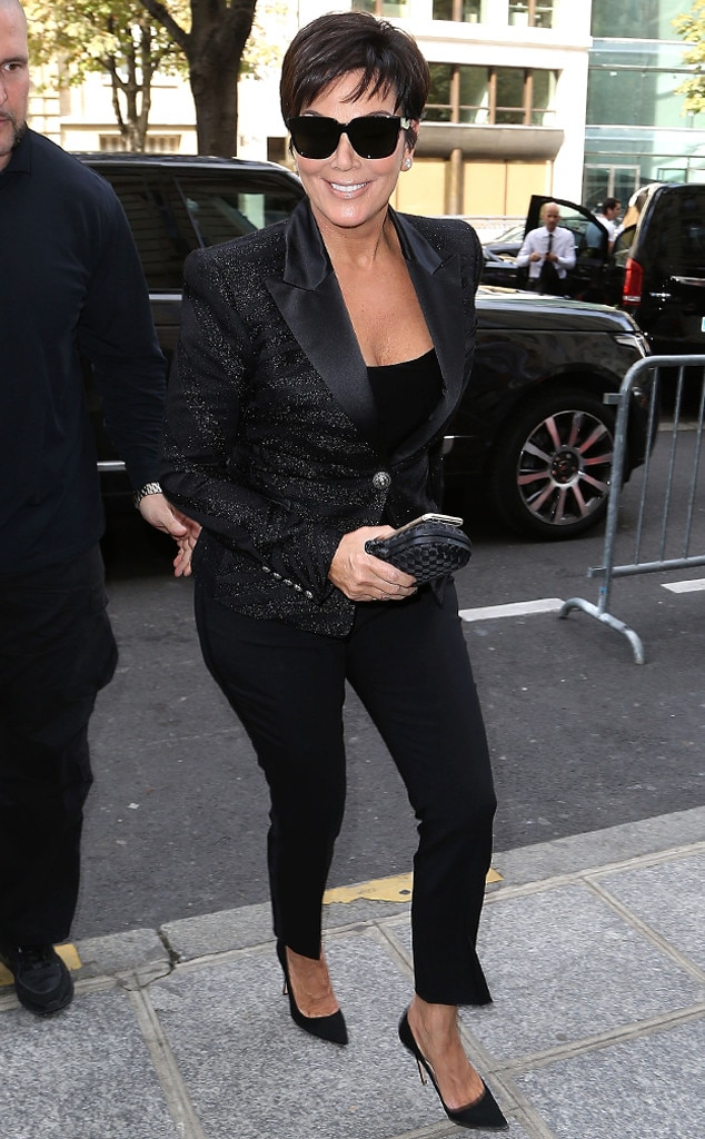 Kris Jenner From Stars At Paris Fashion Week Spring 2015