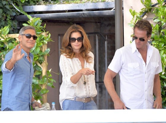 George Clooney, Cindy Crawford, Randy Gerber