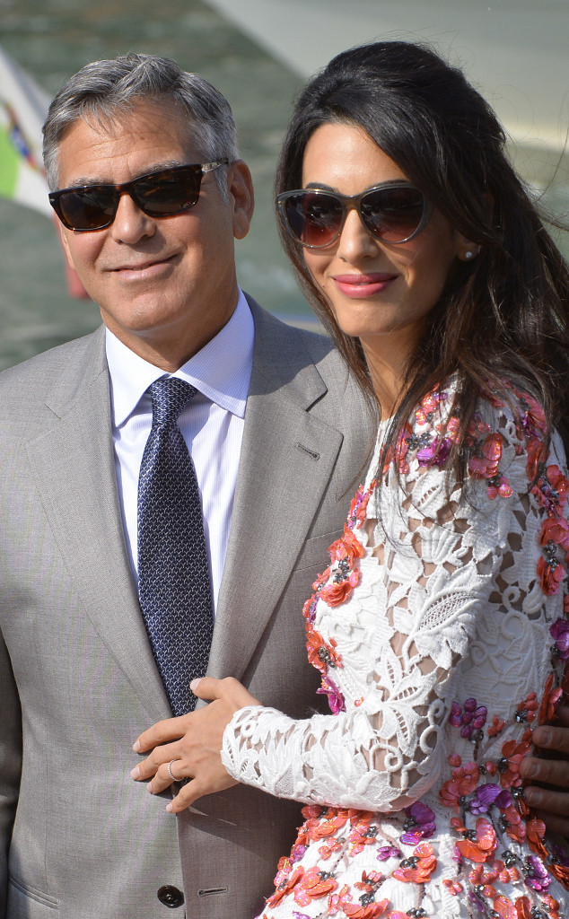 George Clooney & Amal Alamuddin Look So Happy as a Married ...