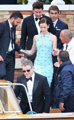 Emily Blunt, John Krasinski, Matt Damon, Clooney Wedding