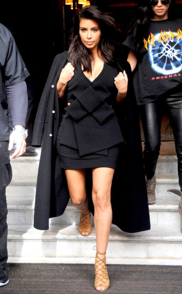 Kim Kardashian From Stars At Paris Fashion Week Spring 2015 E News