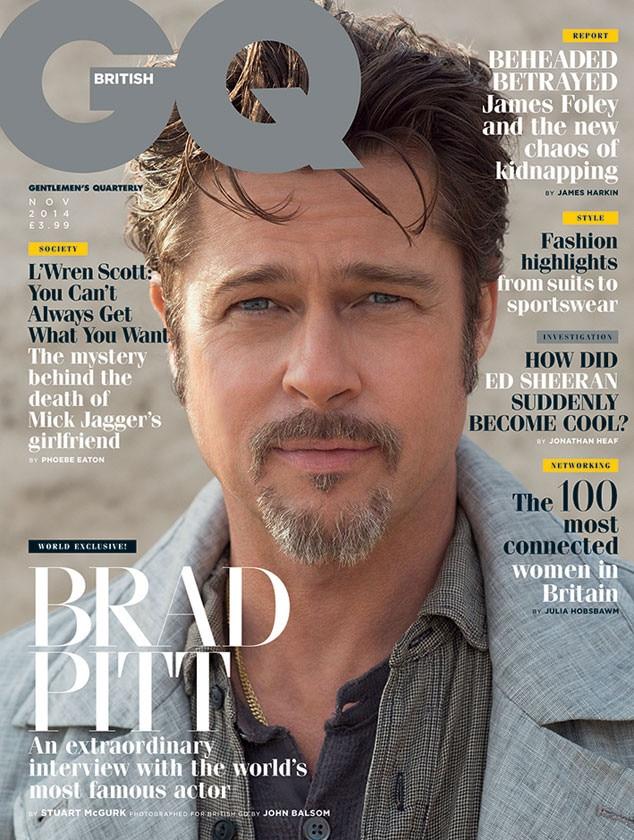 Brad Pitt, British GQ