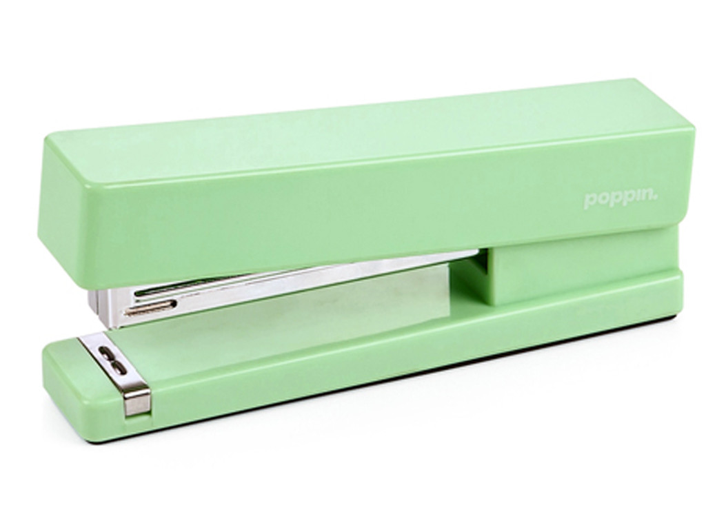 Mint green stapler from stylish office supplies e news for Trendy office supplies