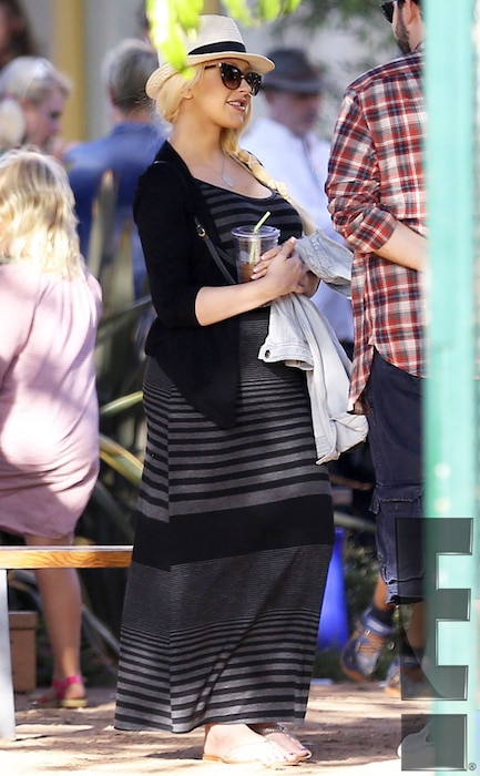 Christina Aguilera, First Post Baby Pics, Exclusive