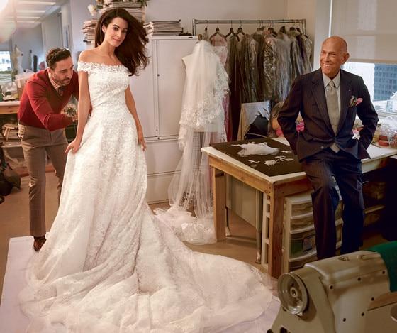 Amal clooneys oscar de la renta wedding dress is for sale e news amal alamuddin wedding dress junglespirit Image collections
