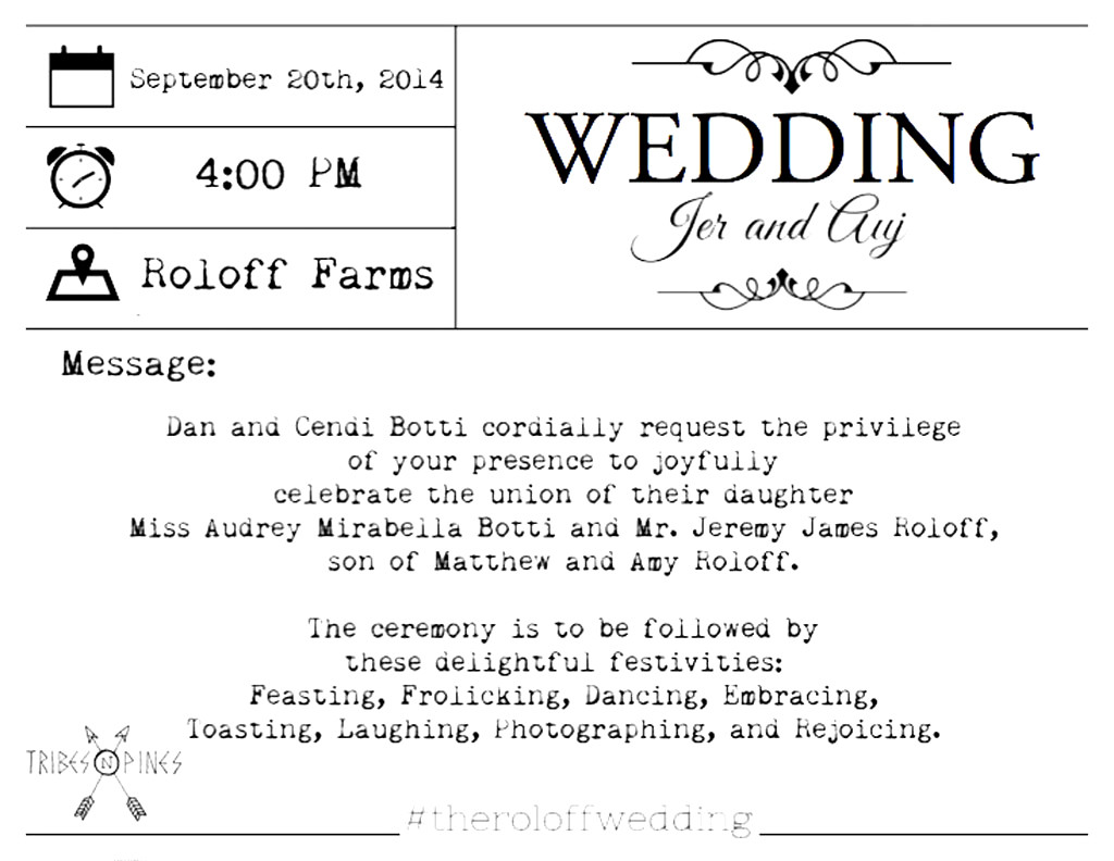 See Jeremy Roloff\'s Wedding Invitation! Little People, Big World ...