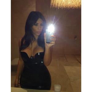 Kim Kardashian Flaunts Major Cleavage In Latest Sexy