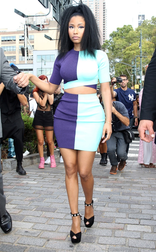 Nicki Minaj From Stars At New York Fashion Week Spring 2015 E News