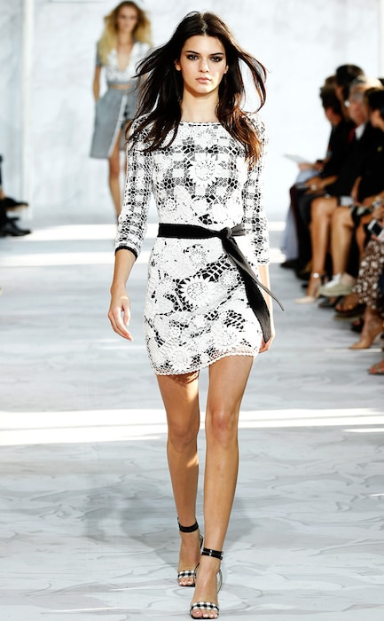 Kendall Jenner, DVF, Gingham Style