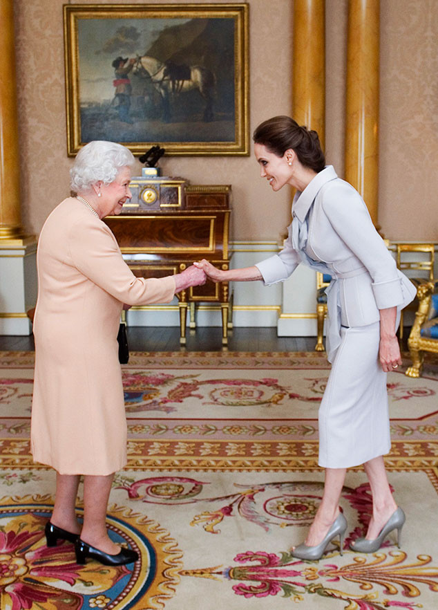 Angelina Jolie Becomes Honorary Dame During Buckingham Palace Reception With Queen Elizabeth Ii