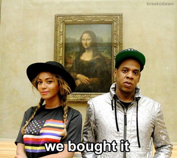 Beyonce, Jay Z, Mona Lisa Meme