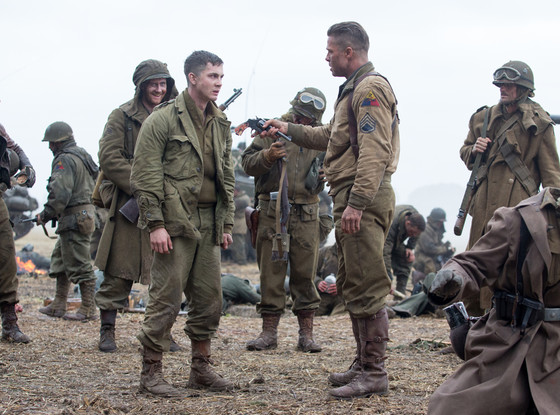 Brad Pitt, Logan Lerman, Fury
