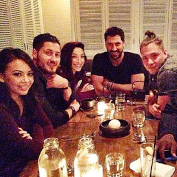 Maksim Chmerkovskiy And Meryl Davis Reunite For Night Out: DWTS Dinner Date! Maksim And Val Chmerkovskiy Hang With