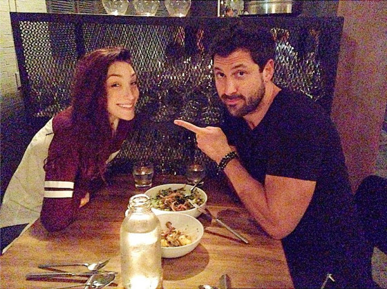Dwts Dinner Date Maksim And Val Chmerkovskiy Hang With