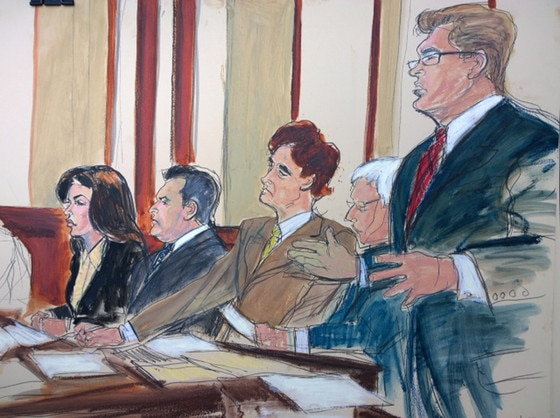 Giudice Lawyers Courtroom Sketch