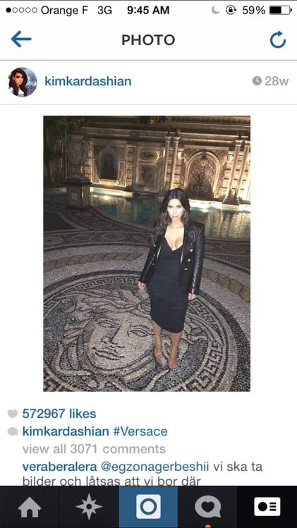 Bedtime Selfie from Kim Kardashian Picks and Captions Her Favorite ...