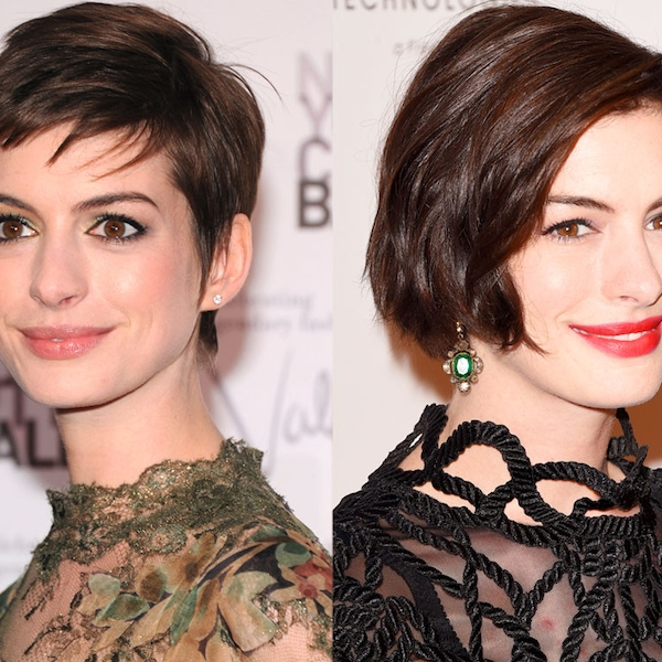 Anne Hathaway Long Bob: Anne Hathaway From Celebrity Haircuts: The Bob