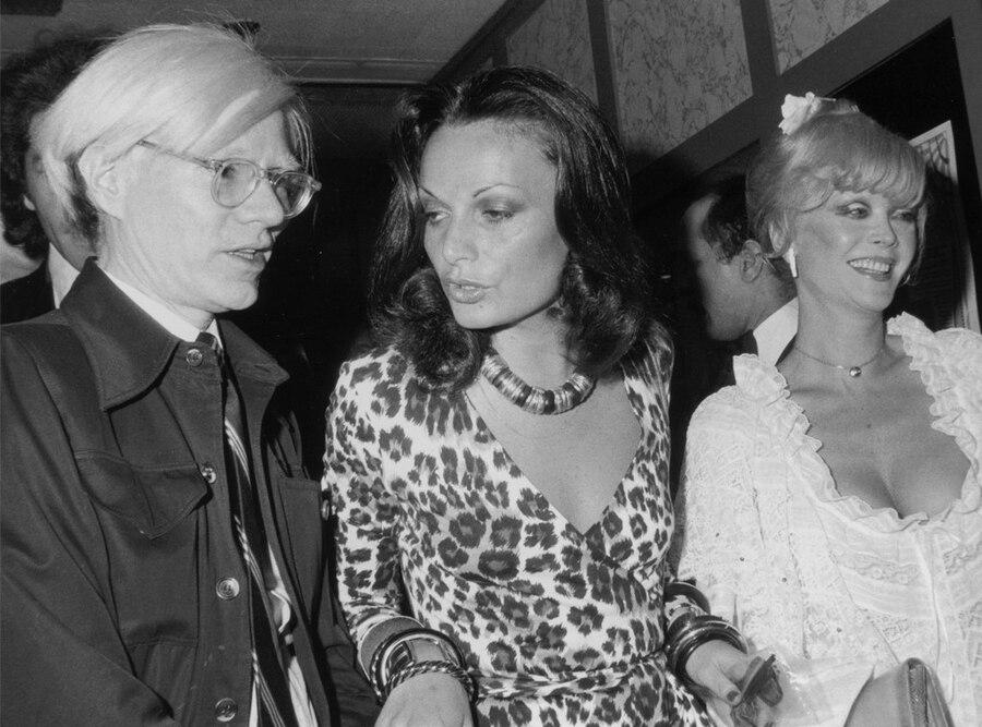 Diane von Furstenberg,  Andy Warhol, Monique Van Vooren