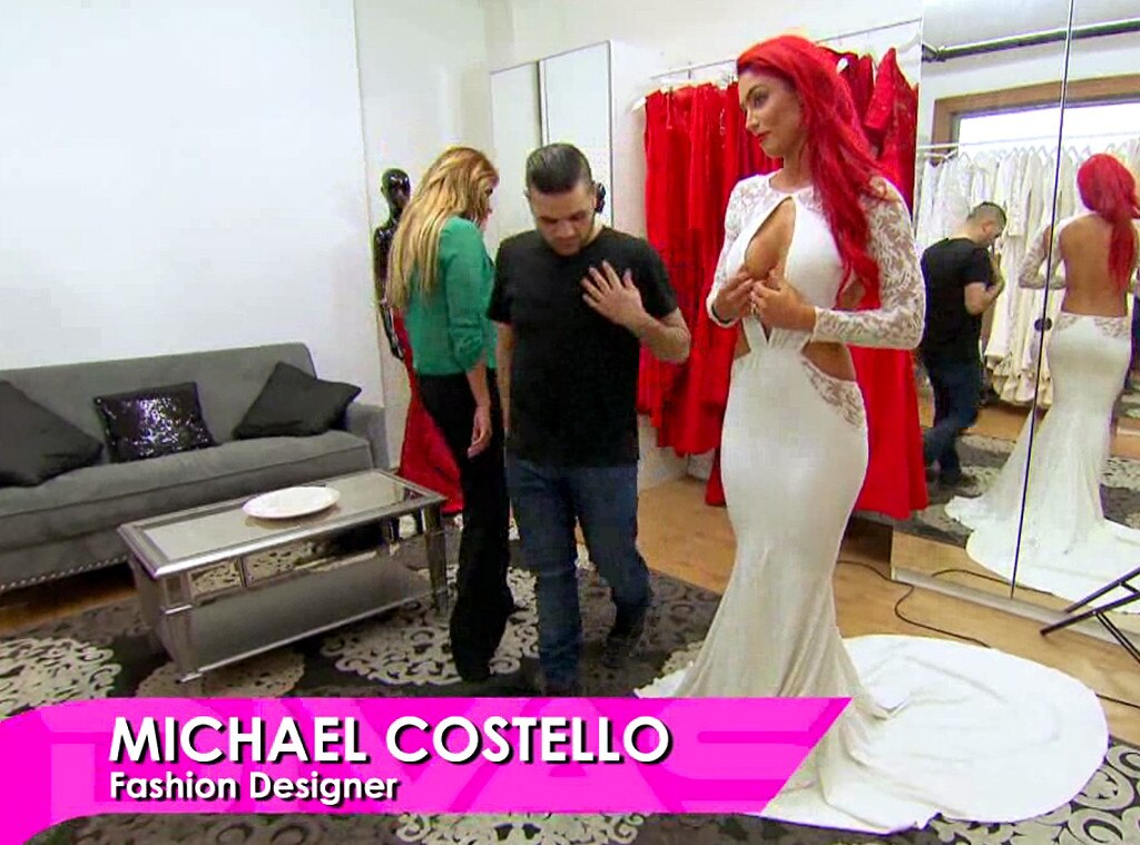 WWE Total Divas Eva Marie Steps Out In Her Wedding Dress See The