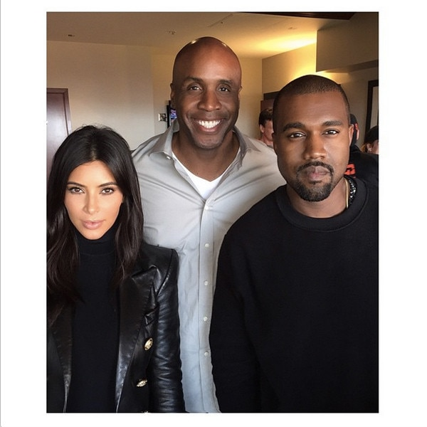 Kim Kardashian, Kanye West, Barry Bonds, Instagram
