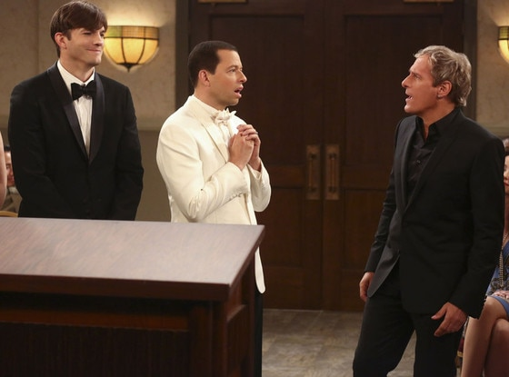 Two And A Half Men, Ashton Kutcher, Jon Cryer, Michael Bolton