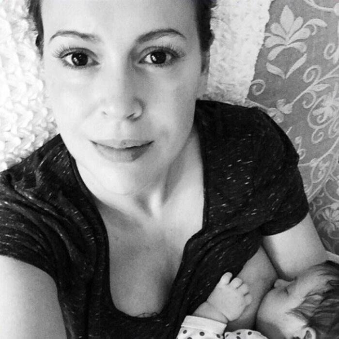 Alyssa Milano, Breast Feeding, Instagram