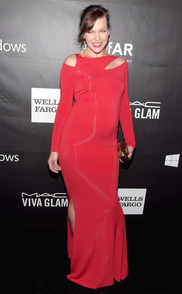 Milla Jovovich, amfAR Inspiration Gala