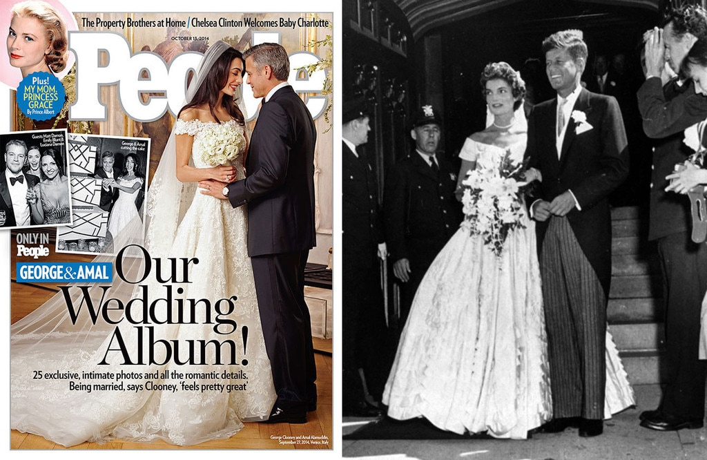 Blushing Brides from Amal Clooney\'s Jackie O Style