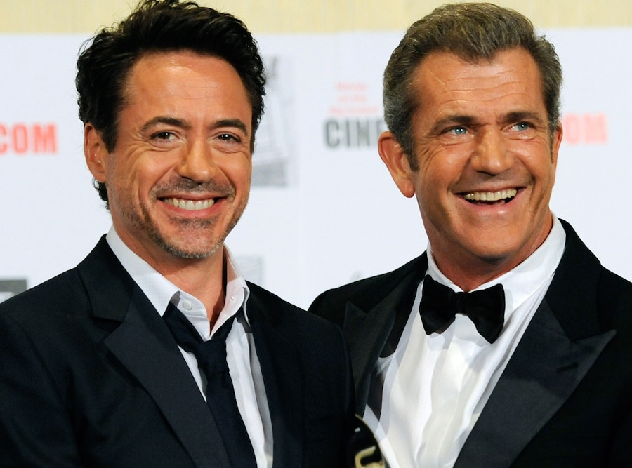 Robert Downey Jr., and Mel Gibson