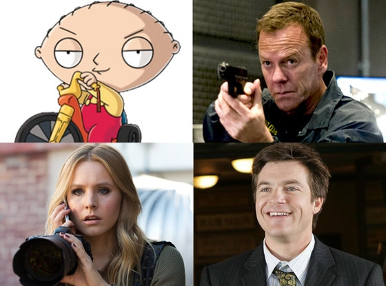 Veronica Mars, Arrested Development, 24: Live Another Day, Family Guy