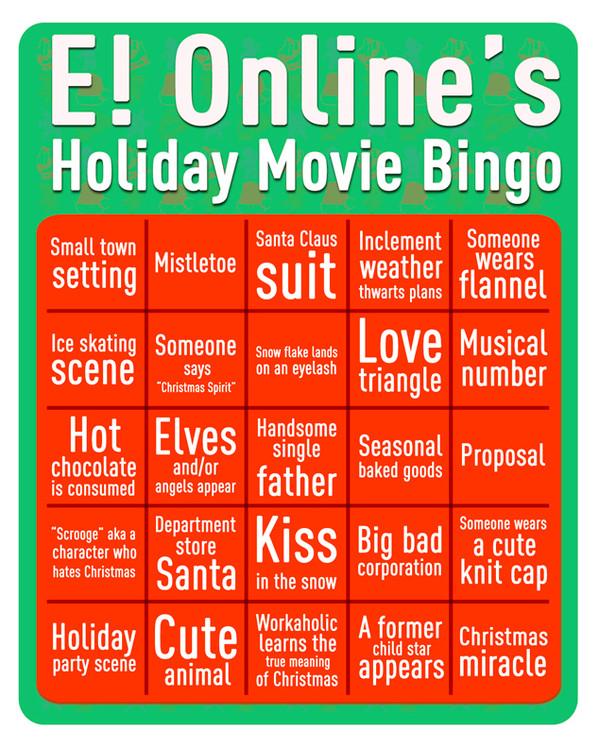 Holiday Movie Bingo