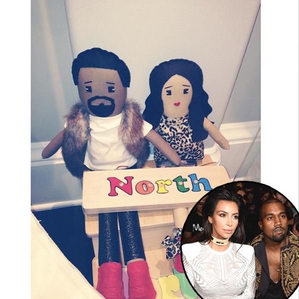 Kim Kardashian, Kanye West, Dolls, Instagram