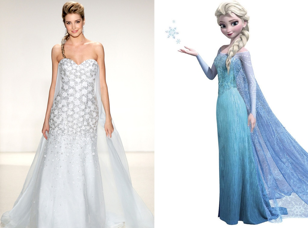 elsa from alfred angelo s disney princess wedding gowns e news