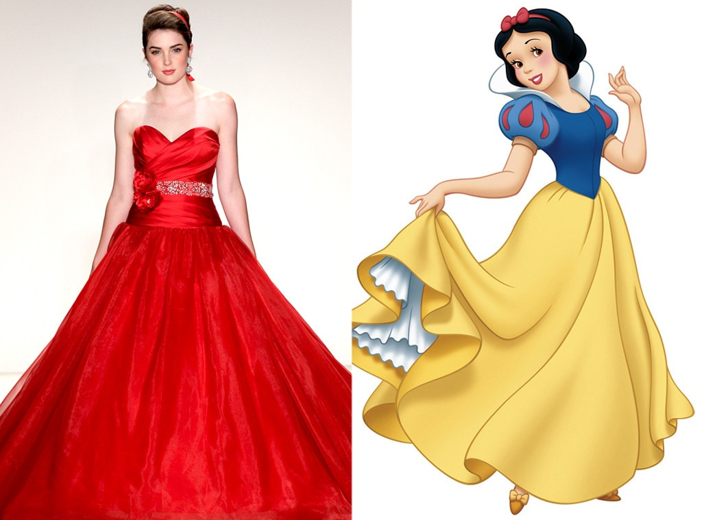 Snow white from alfred angelo s disney princess wedding for Designer disney wedding dresses