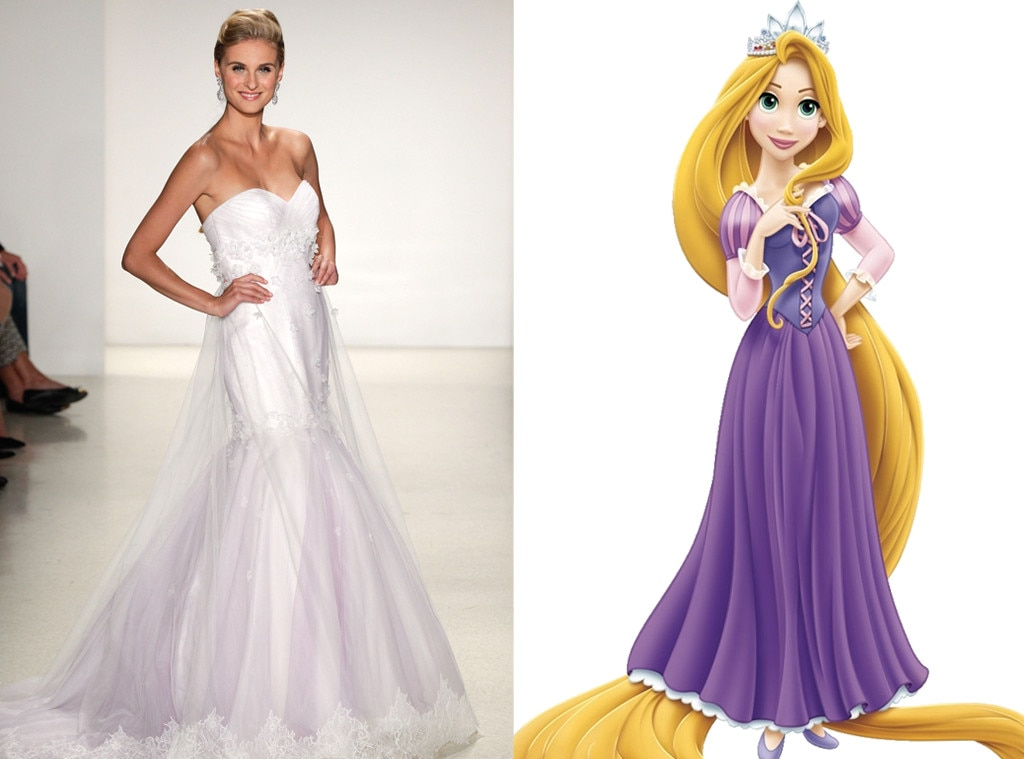 Rapunzel From Alfred Angelos Disney Princess Wedding Gowns