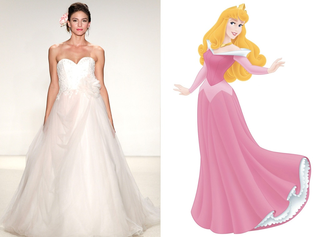 Disney Princess Wedding Dresses Aurora : Aurora from alfred angelo s disney princess wedding gowns e news