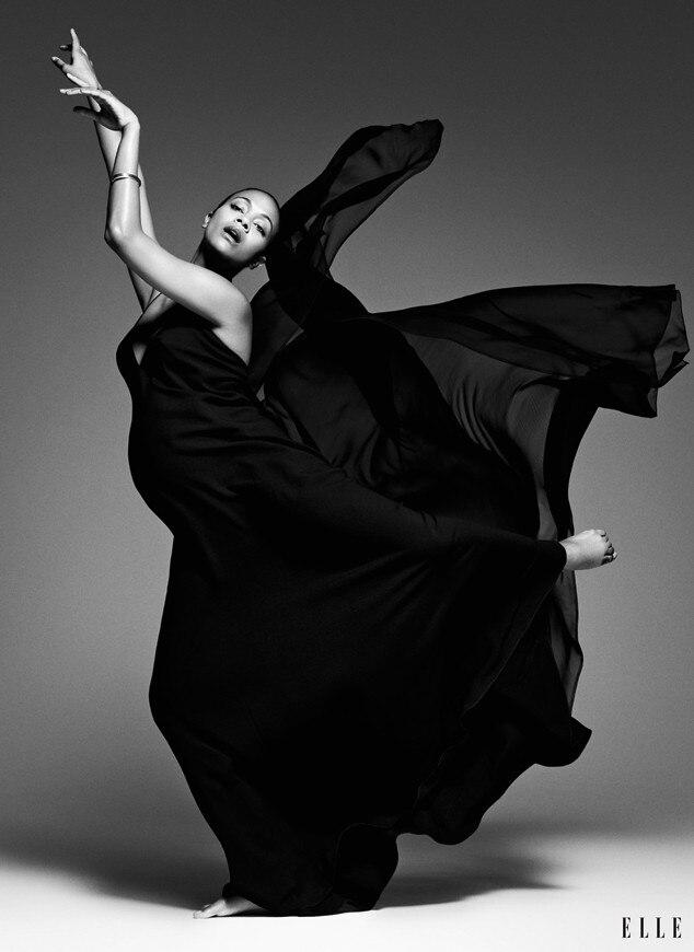 Zoe Saldana, Elle Magazine