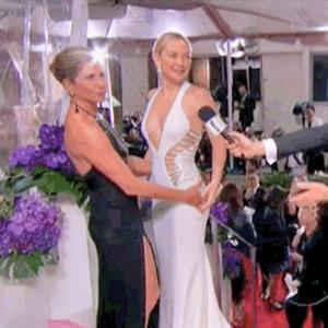 Kate Hudson, Jennifer Aniston, Golden Globes, GIF