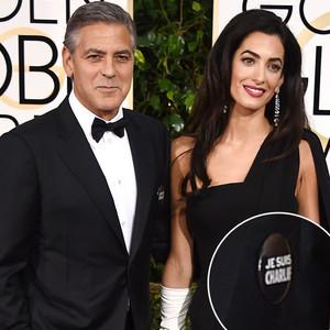 George Clooney, Amal Clooney, Je Suis Charlie, Golden Globes